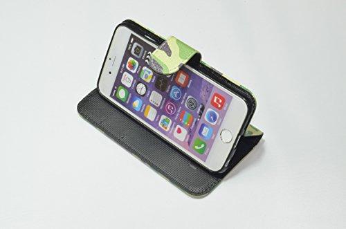迷彩柄手帳型ケース iphone6,6Sプラス パステルピンク 683878