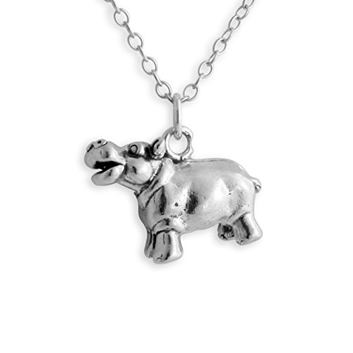 925-sterling-silver-hippopotamus-hippo-pendant-necklace-14-inches
