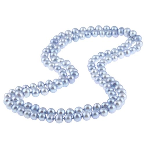 DaVonna Blue Freshwater Pearl 48-inch Endless Necklace (9-10 mm)