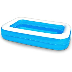 Blue family pool large paddling pool size l for Large paddling pool