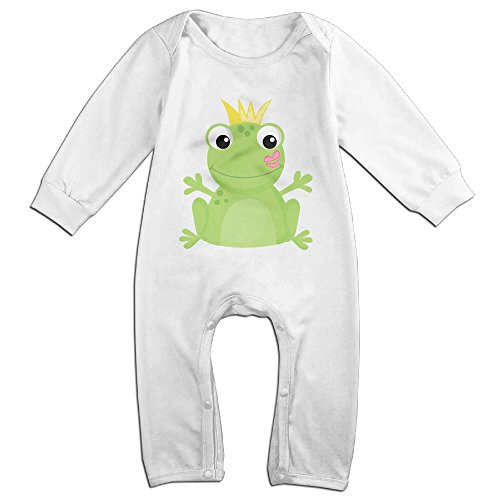 Posit-Babys-Frog-6-Boys-Girls-Kids-Creeper-Romper-Bodysuits-Jumpsuits-Size-US-White