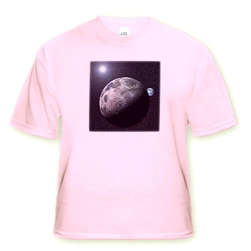Moon Dance solar system scene of planet Earth and moon dancing in space orbit - Toddler Light-Pink-T-Shirt (4T)