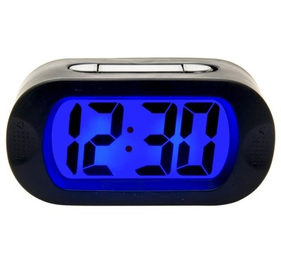 Karlsson Rubber Alarm Clock Black (15cm x 8cm x 5cm)