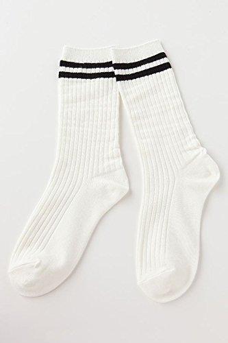 (チュチュアンナ) tutuanna リブ2本ラインソックスオフ白×黒 : 服&ファッション小物通販 | Amazon.co.jp