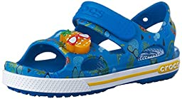 crocs Crocband II Pineapple LED Sandal (Toddler/Little Kid), Ultra Marine, 11 M US Little Kid