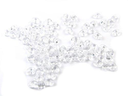 10 Gramm Preciosa Twin Beads, 4x2,5 mm, transparent