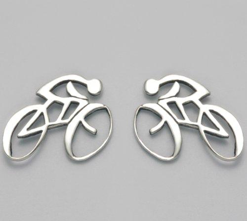 Sterling Silver Road Bike Stud Earrings