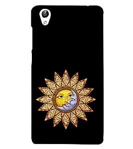 Sun and Moon 3D Hard Polycarbonate Designer Back Case Cover for vivo Y51 :: VivoY51L