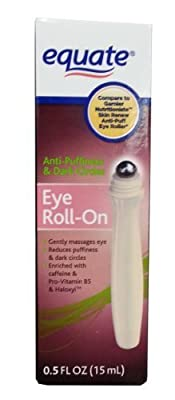 Equate Eye Roll-On Anti Puffiness and Dark Circles Compare to Garnier Nutritioniste Skin Renew Anti-Puff Eye Roller