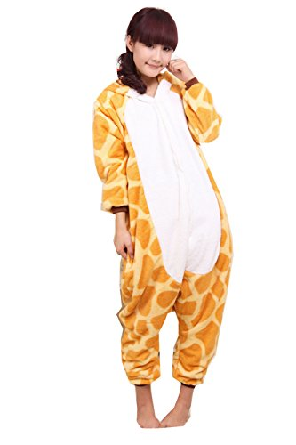 Winter Giraffe Pajamas Cosplay Costume Footed Sleepwear For Women Men