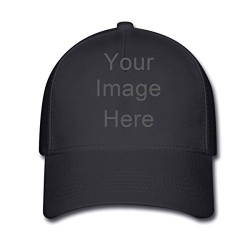 Add Photo or Text Print Design Personalize Custom Black Adjustable Baseball Cap (Richardson Baseball Caps compare prices)