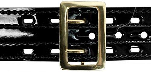 Safariland 87V Duty Belt With Hook Fastener Lining, High Gloss Black, Brass Buckle, Size 34