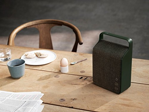 Vifa Oslo Compact Rechargeable Hi-Resolution Bluetooth Portable Speaker- Pine Green