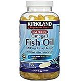 Kirkland Signature Fish Oil 1200 Mg Enteric Coated Provides 684 Mg of Omega-3 Fatty Acids: 180 Softgels