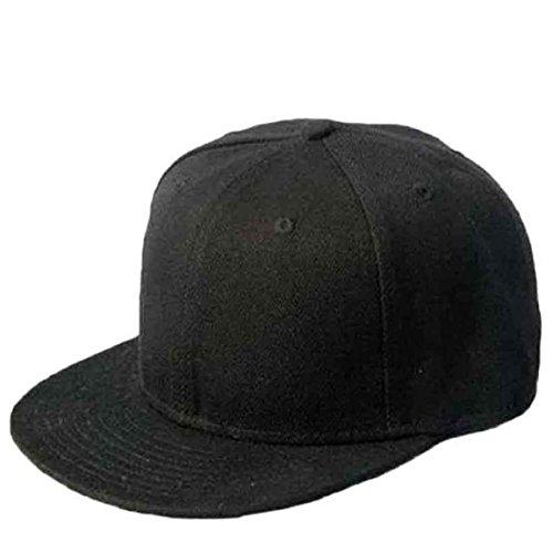 Culater® Nero Snapback Pianura Di Hip-Hop Del Berretto Da Baseball Ragazzo Regolabile Cappello