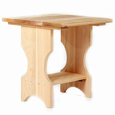 Western Red Cedar Adirondack Magazine Table - Square Side Table - Patio and Garden Furniture