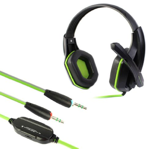 Sannysis 1Pc High Quality Pro Stereo Gaming Headset With Microphone For Pc Laptop Computer(Green)