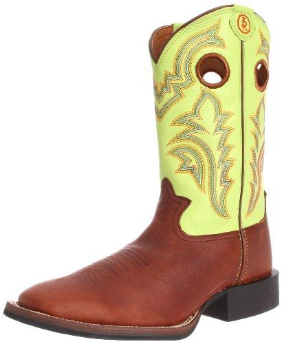 Tony Lama Boots Men's RR1108 Boot,Auburn Mustang/Prairie Baron Calf,10 EE US