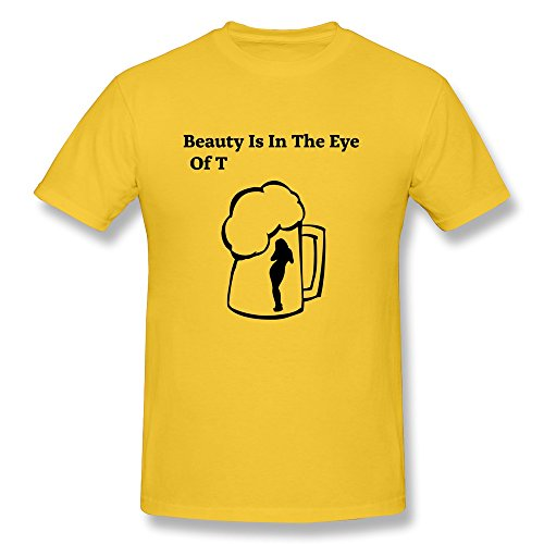 Beauty Eye Printed 100% Cotton Tshirt For Guy'S back-285698