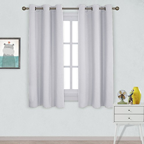 Nicetown Window Treatment Thermal Insulated Grommet Room Darkenining Curtains / Drapes For Bedroom (2 Panels,42 by 63,Platinum) (Window Curtains Bedroom compare prices)