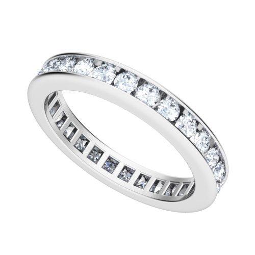 Platinum Channel set Diamond Eternity Wedding Band Ring (GH/VS, 1 ct.)
