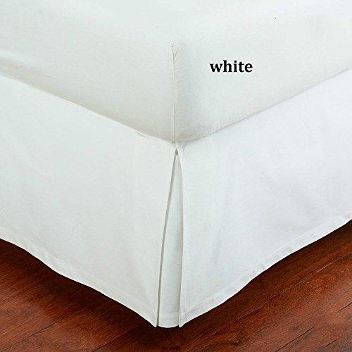SRP Bedding Real 350 Thread Count Split Corner Bed Skirt / Dust Ruffle Full/Double Size Solid White 12