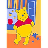 Luxury Childrens Character Winnie The Pooh Spring Orange Disney Rug/Mat