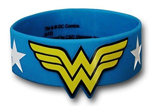 Wonder-Woman-Dc-Comics-Logo-Stars-Rubber-Bracelet-Wristband