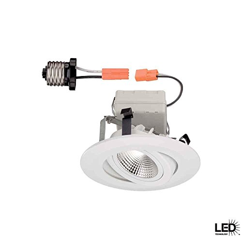 Commercial Electric 4 in Recessed White Gimbal LED Trim 046335961685