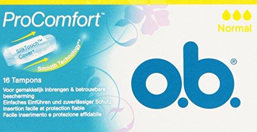 o.b. - ProComfort, Tamponi con facile inserimento e protezione affidabile, 16 pezzi