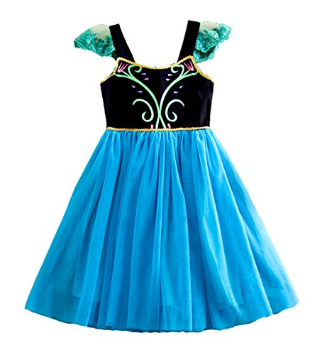 New Frozen Princess Anna Elsa Inspired Costume Dress 2T-12