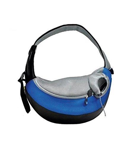 Borsa da viaggio Carrybag - Trasportino da passeggio, ideale per cani di taglia piccola o gatti (Blu, Small)