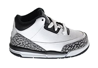 Buy Jordan 3 Retro Infrared 23 (BT) Baby Toddlers Basketball Shoes White Black-Wolf Grey 832033-123 by Jordan