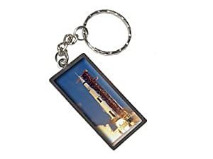 Graphics and More Apollo 11 Launch USA Space Program Keychain Ring (K1920)