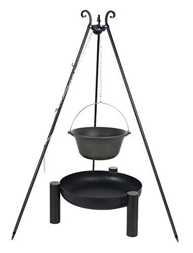 Gusseisenkessel 10,8 ltr. auf dem Dreibein mit der Feuerschale 38 online kaufen