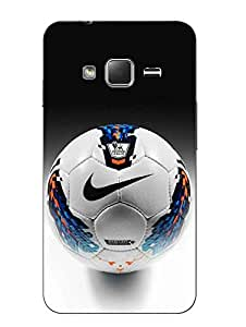 Snazzy Football Printed Grey Hard Back Cover For Samsung Z1