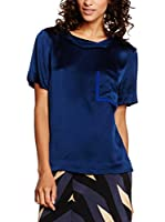 Marc by Marc Jacobs Top Seda Mareika Solid (Azul)