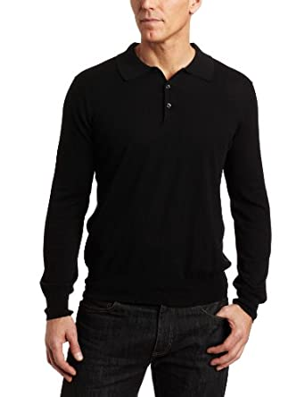 Perry Ellis Men's Long Sleeve Sweater, Black, Large