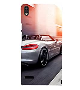 EPICCASE Supercar Mobile Back Case Cover For Huawei Ascend P6 (Designer Case)