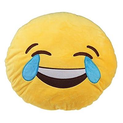 ノーブランド品超可愛いぬいぐるみ 苦笑い抱き枕 装飾絵文字