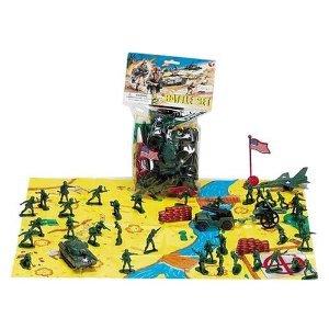 Castle Toys 2 h Army Men Soldier Battle Set with Flag