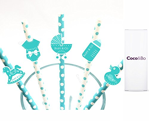 10-x-cocobo-baby-co-blue-white-paper-party-straws-breakfast-at-tiffanys-baby-shower-christening-part