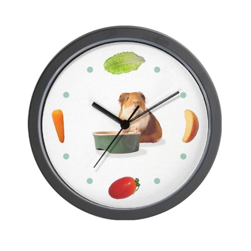 CafePress - 'Veggie Time' Guinea Pig Clock - Unique Decorative 10