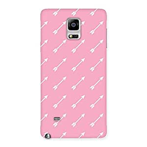Cute Pink And Arrow Multicolor Back Case Cover for Galaxy Note 4