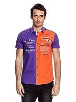 Redbridge Camisa Hombre (Violeta / Naranja)