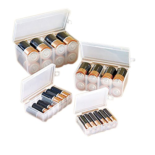 BATTERY STORAGE CASE SET (4PC SET FOR ALL OF YOUR BATTERY STORAGE NEEDS!) (Battery Storage Containers compare prices)