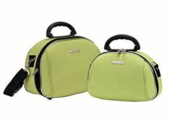 Rockland Luggage Luca Vergani 2 Piece Cosmetic Set, Lime, One Size