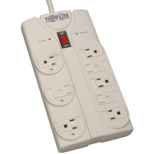 Tripp Lite TLP808 Surge Protector 120V 5-15R 8 Outlet 8ft Cord 1440 JouleB00006B82S : image