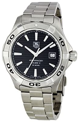 TAG Heuer Men's WAP2010.BA0830 Aquaracer Calibre 5 Automatic Black Dial Watch