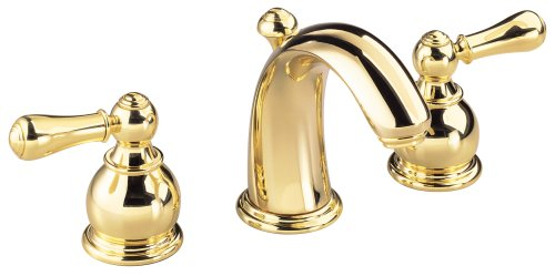 American Standard 7881.732.099 Hampton 8-Inch Widespread Lavatory Faucet with Metal Lever Handles, Polished Brass